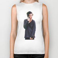 harry styles Biker Tanks featuring Harry Styles by Christa Morgan ☽
