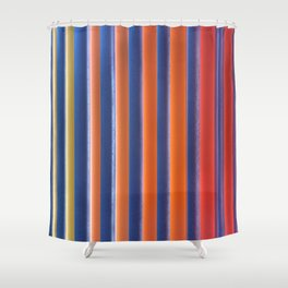Hot & Cold Stripes Shower Curtain