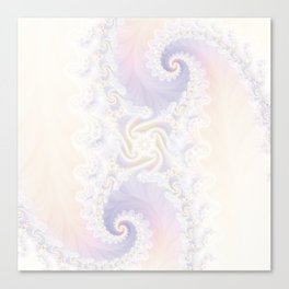 Beautiful Wedding Dress Fractal for the Princess of Pearls Canvas Print