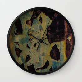 abstract metal pattern Wall Clock