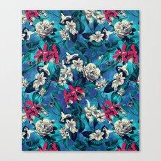 Botanical Garden on Blue Canvas Print