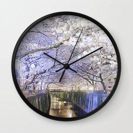 Nakamegruo Sakura Wall Clock
