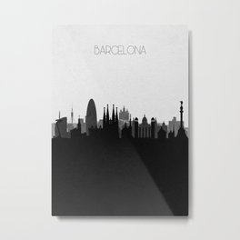 City Skylines: Barcelona Metal Print