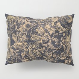 Vintage Constellations & Astrological Signs | Yellowed Ink & Cosmic Colour Pillow Sham