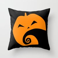 nightmare before christmas Throw Pillows featuring The Nightmare before Christmas by Citron Vert