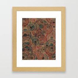 Circles Of Life Framed Art Print