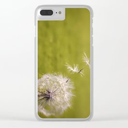 Wishing on a Dandelion Clear iPhone Case