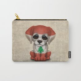 Cute Puppy Dog with flag of Lebanon Carry-All Pouch