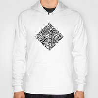 triangles Hoodies featuring TRIANGLES by THE USUAL DESIGNERS
