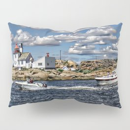 Homlungen lighthouse, Hvaler in Norway Pillow Sham