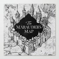 marauders Canvas Prints featuring Marauders Map by bimorecreative