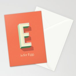 E is for Egg Stationery Cards