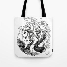 Epiphycadia IV: Circular Tote Bag