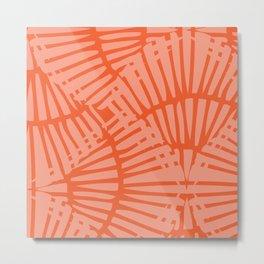 Basketweave-Persimmon Metal Print