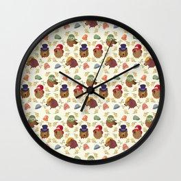 Bears and Hats Wall Clock