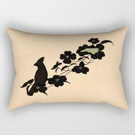 North Carolina - State Papercut Print Rectangular Pillow