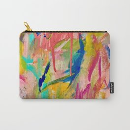 Wild Child: a colorful, vibrant abstract piece in neon and bold colors Carry-All Pouch