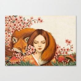 Red Fox - Totem Canvas Print