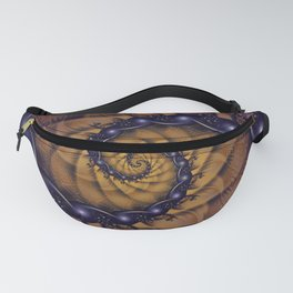 An Emperor Scorpion's 1001 Fractal Spiral Stingers Fanny Pack