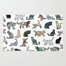 Cats shaped Marble - White Rug