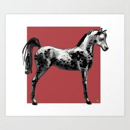 'Grey Horse' Art Print