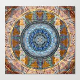 Rustic Visionary Boho Sacred Geometry Neo Tribal Mandala Canvas Print
