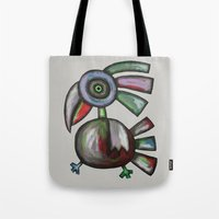 parrot Tote Bags featuring Parrot by Rudolf Brancovsky