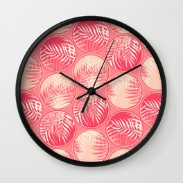 Pink Tropical Coins #society6 #decor #buyart Wall Clock