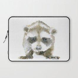 Baby Raccoon Watercolor Laptop Sleeve