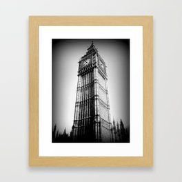 Ben looms in black and white, too. Framed Art Print