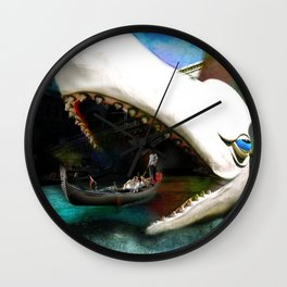 Whale of a Ride Wall Clock