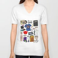 ghost world V-neck T-shirts featuring Ghost World by Shanti Draws