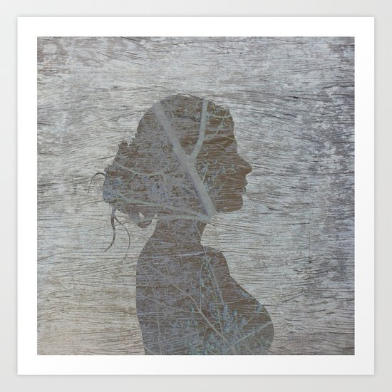 a natural silhouette, one  Art Print