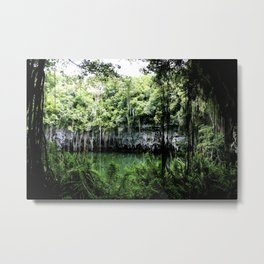 Travel Photography : Los Tres Ojos - Dominican Republic Cave Metal Print