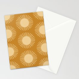 Golden Sun Pattern II Stationery Cards