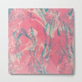 Adrift - Abstract Suminagashi Marble Series - 04 Metal Print