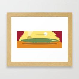 Alligator Framed Art Print