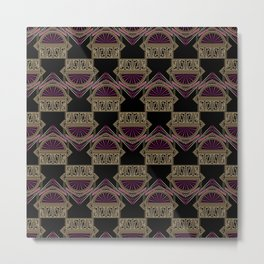 Seamless antique art deco pattern ornament. Geometric stylish background repeating texture Metal Print
