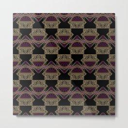 Seamless antique art deco pattern ornament. Geometric stylish background repeating texture Metal Print