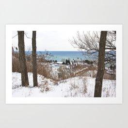 Scarborough Bluffs in Winter on December 27th, 2020. II Art Print
