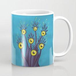 Tree Monster With Yellow Eyes   Digital Art Coffee Mug