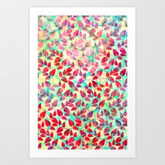 Dots and Leaves Art Print