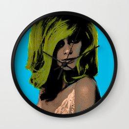Random Internet Girl + Andy Warhol Wall Clock