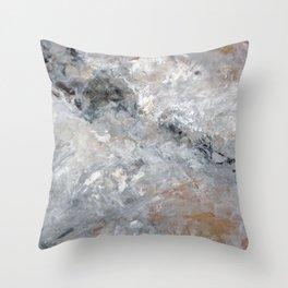 Grey Notes Throw Pillow