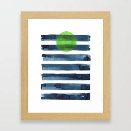 Luna verde Framed Art Print