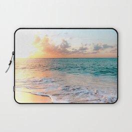 Tropical Sunset Beach, Sunset Photo Laptop Sleeve