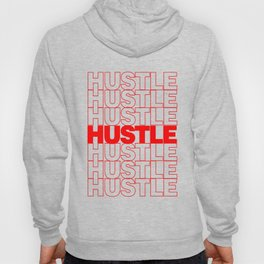 Hustle Thank You Plastic Bag Typography Hoody