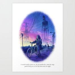 Behind You 93 Art Print