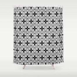 Funky Geo Modern / Grey Geometric Modern Pattern Shower Curtain
