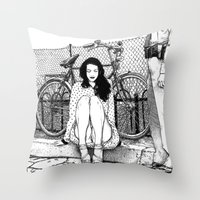 apollonia Throw Pillows featuring asc 592 - L'amende honorable (A satisfactory apology) by From Apollonia with Love